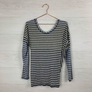 Soft Surroundings striped long sleeve top M